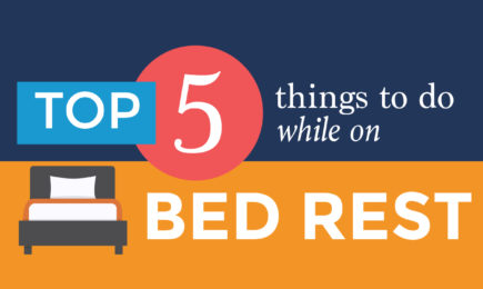 top things to do when on bed rest